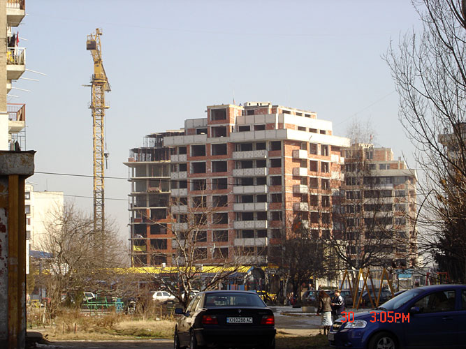 Изображения от: Construction stages - blocks A & B - January, 2008