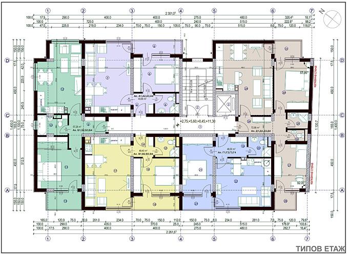 Проект Надежда - типов етаж